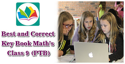 Best and Correct Key Book Math's Class 9 (PTB)