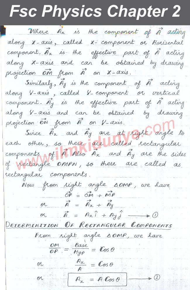 Gre Study Book >> punjab board 11th class physics chapter 2 notes