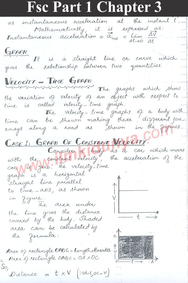 Gre Study Book >> punjab board 11th class physics chapter 3 notes