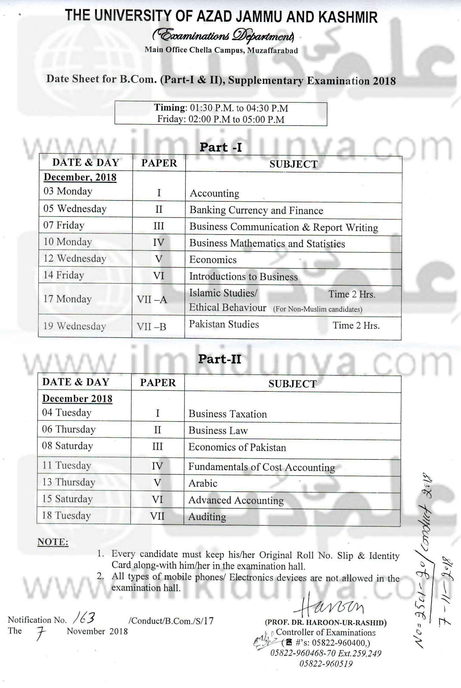 date date sheet 2018