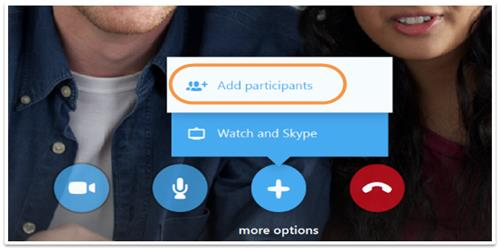 how to group video call on skype app