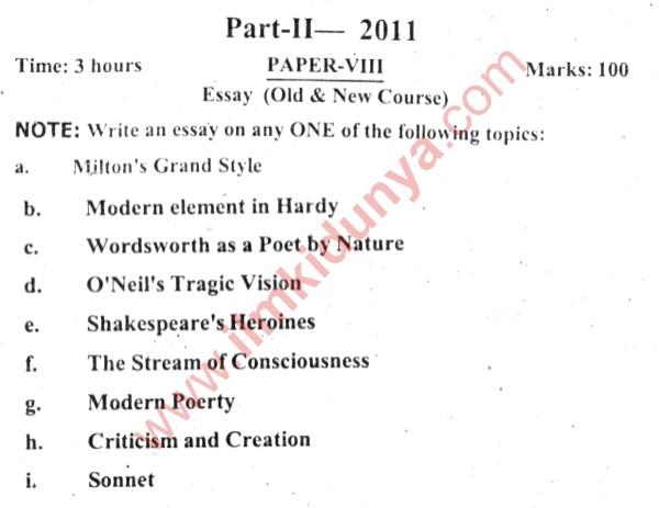 past paperspunjab university ma english essay